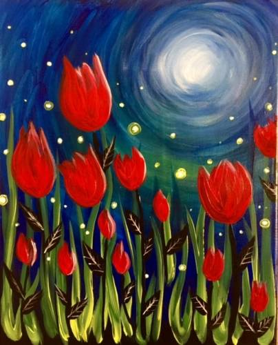 A Late Night Bling paint nite project by Yaymaker