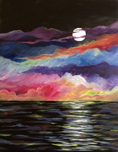 A Clouds at Night paint nite project by Yaymaker