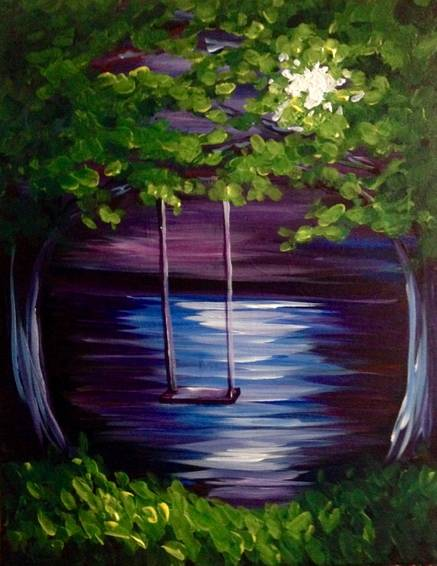 A Swing Me Until the Moonlight paint nite project by Yaymaker