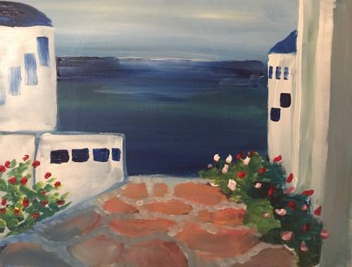 A Greek Dreams paint nite project by Yaymaker