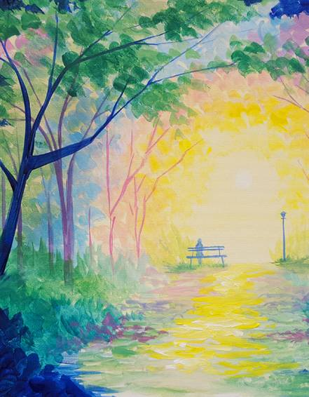 A Park Promenade paint nite project by Yaymaker