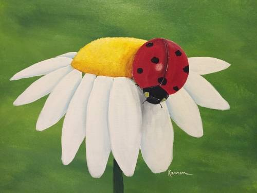 A Daisy Lady paint nite project by Yaymaker