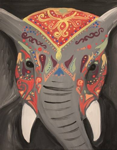 A Indian Elephant paint nite project by Yaymaker