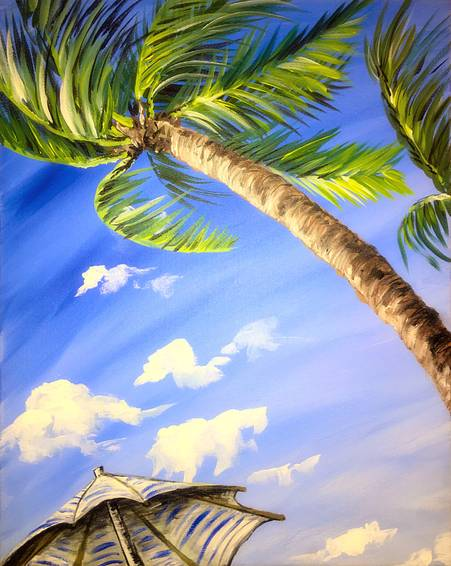 A Tropical Sky Gazing paint nite project by Yaymaker