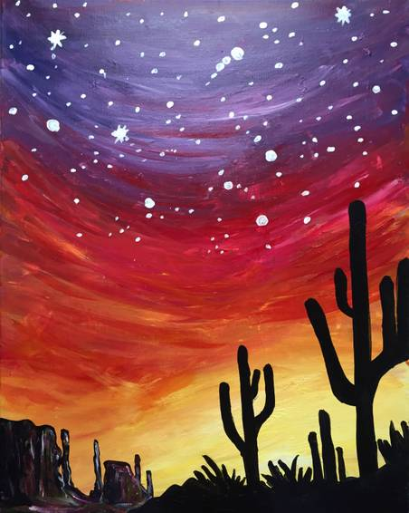 A Luminous Wild Desert paint nite project by Yaymaker