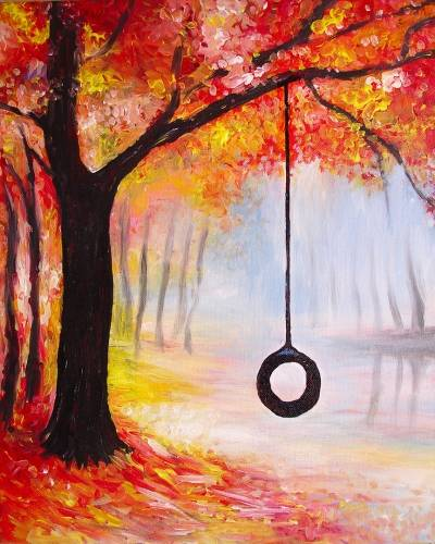 A Fall Swing Time paint nite project by Yaymaker