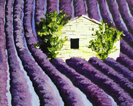 A Lavender Farms paint nite project by Yaymaker