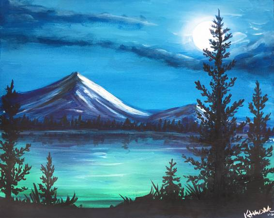 A Cold Mountain Nights paint nite project by Yaymaker