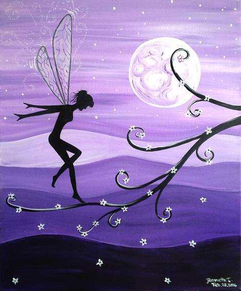 A Purple Fairy Land paint nite project by Yaymaker