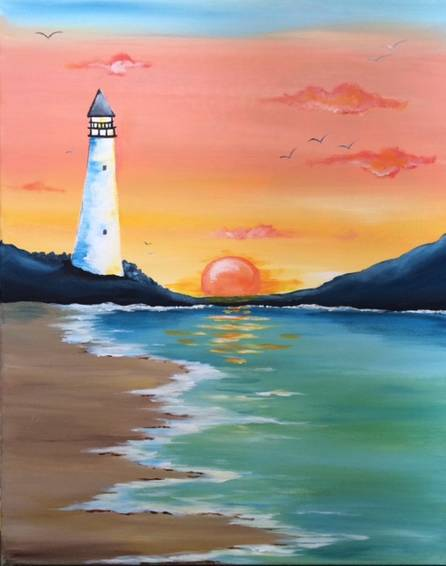 A Summer Beacon paint nite project by Yaymaker