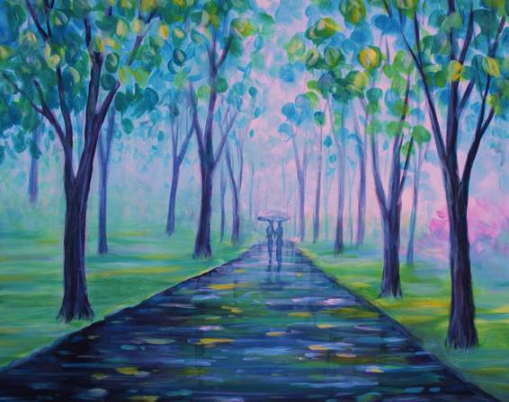 A April Stroll paint nite project by Yaymaker