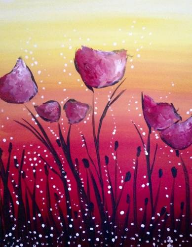 A Magical Morning Mums paint nite project by Yaymaker