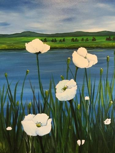 A Poppy Lake paint nite project by Yaymaker