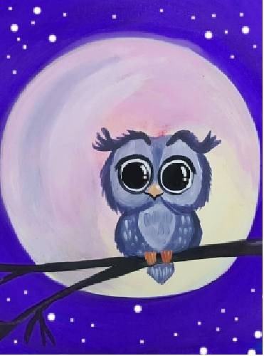 A Owl Alone paint nite project by Yaymaker