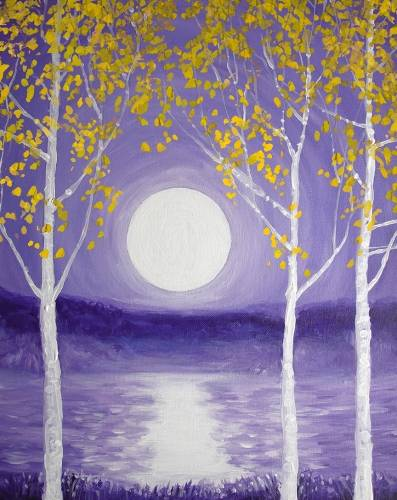 A Purple Moonlight paint nite project by Yaymaker