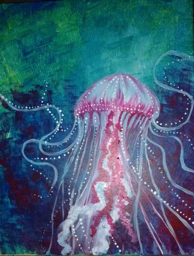 A Deep Sea Jellyfish paint nite project by Yaymaker