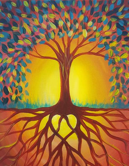 A Rooted in Love paint nite project by Yaymaker