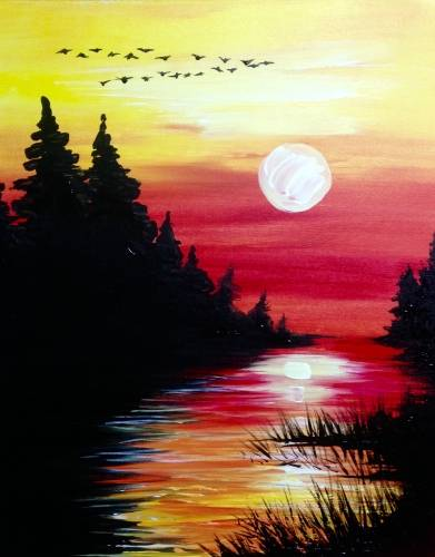 A Pine Lake Crossing paint nite project by Yaymaker