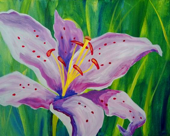 A Spotted Orchid paint nite project by Yaymaker