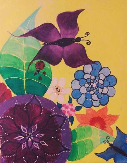 A Pop of Spring paint nite project by Yaymaker