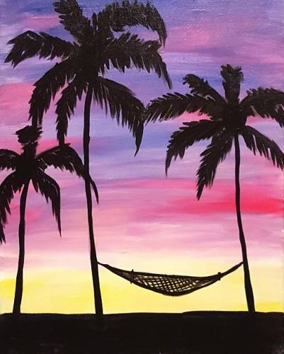 A Palm Beach Hammock paint nite project by Yaymaker