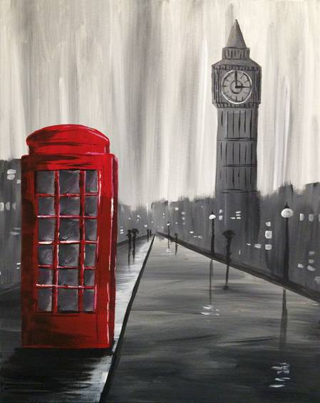 A Lovely London paint nite project by Yaymaker