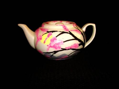 A Cherry Blossom Teapot paint nite project by Yaymaker