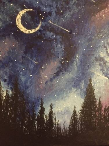 A Universe Falls paint nite project by Yaymaker