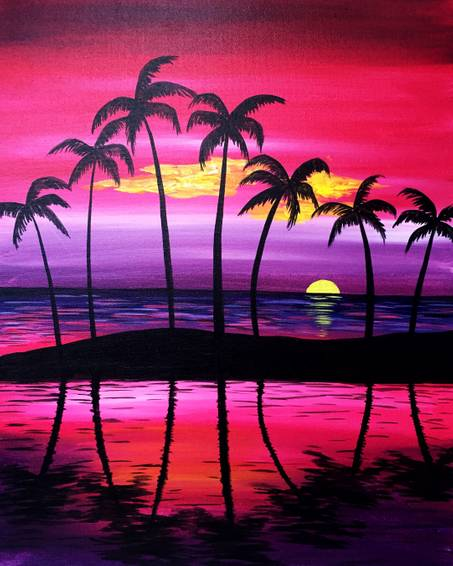 A Purple Serenity paint nite project by Yaymaker