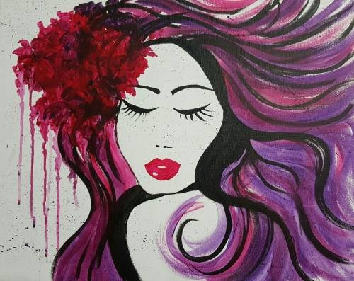 A Red Haute Woman paint nite project by Yaymaker
