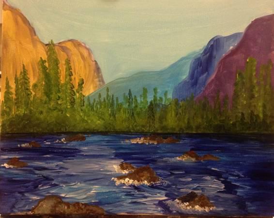 A Yosemite paint nite project by Yaymaker