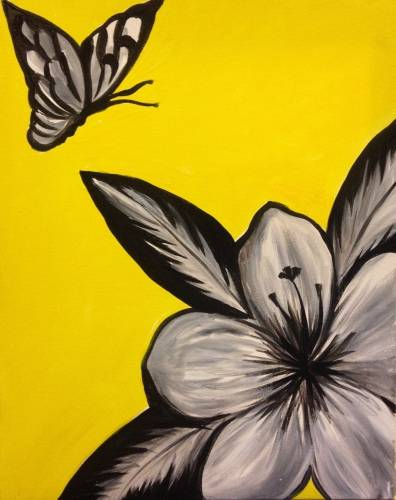 A Happy Shades of Gray paint nite project by Yaymaker