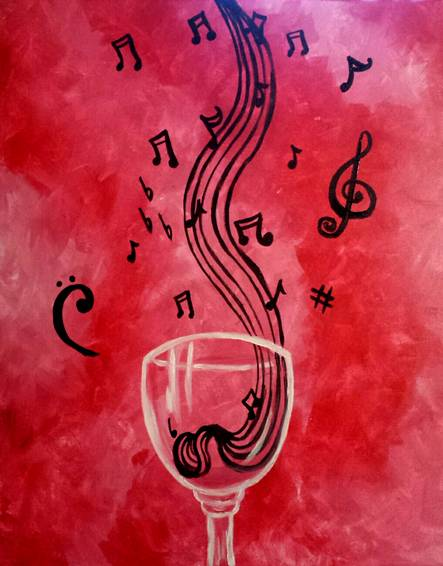 A Music is my Wine paint nite project by Yaymaker