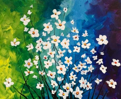 A Twilight Garden Delight paint nite project by Yaymaker