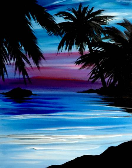 A Caribbean Dream paint nite project by Yaymaker