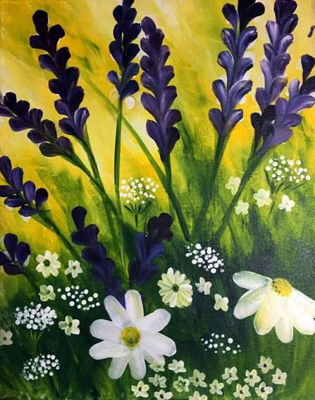 A Where the Wildflowers Are paint nite project by Yaymaker