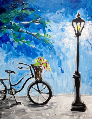A Lamplit Bicycle paint nite project by Yaymaker