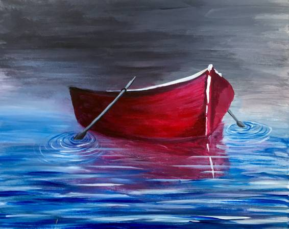 A Adrift paint nite project by Yaymaker