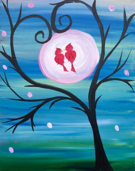 A Cardinal Love paint nite project by Yaymaker