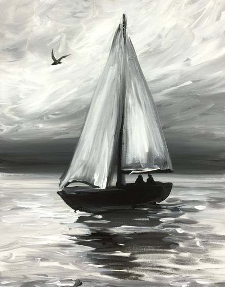 A Vintage Sail paint nite project by Yaymaker