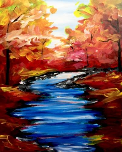 A Autumn Stream II paint nite project by Yaymaker