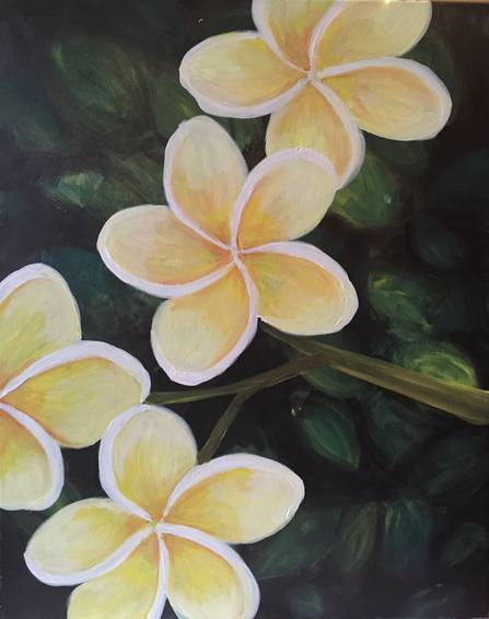 A Peaceful Plumerias paint nite project by Yaymaker