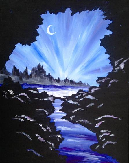 A Twilight Cave paint nite project by Yaymaker