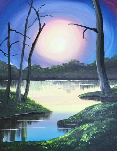 A On Golden Pond paint nite project by Yaymaker