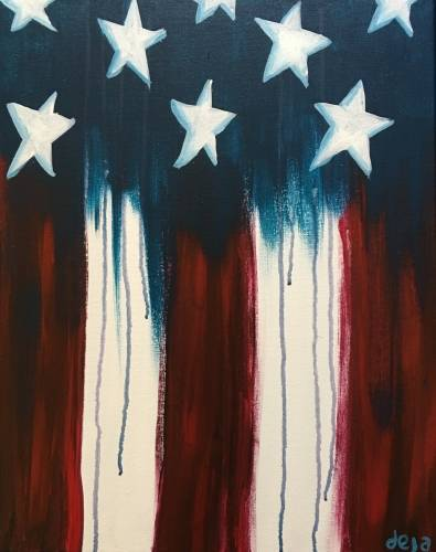 A Star Spangled II paint nite project by Yaymaker