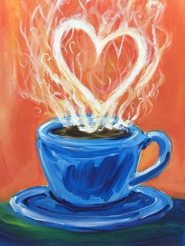A Coffee Lover paint nite project by Yaymaker