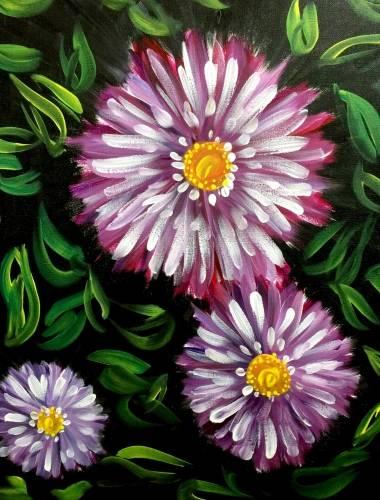 A Purple Fantasy Flowers II paint nite project by Yaymaker