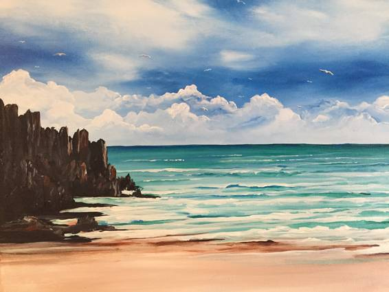 A Black Rock Beach paint nite project by Yaymaker
