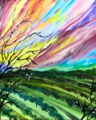A Wine Country II paint nite project by Yaymaker
