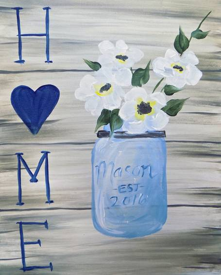 A Home Is Where The Heart Is paint nite project by Yaymaker